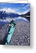 Kayak Ashore Greeting Card by Bill Brennan - Printscapes