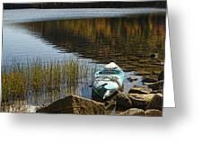 Kayaking in Acadia Greeting Card by Alexander Mendoza