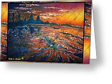 Kayaking Serenity - Bordered Greeting Card by Sue Duda