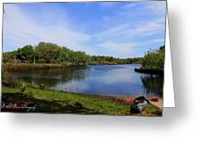Kayaking The Cotee River Greeting Card by Barbara Bowen