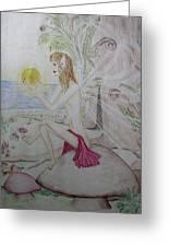 Keeper Of The Sun Greeting Card by Carol Frances Arthur