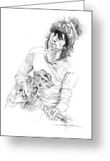 Keith Richards Exile Greeting Card by David Lloyd Glover