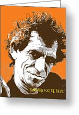 Keith Richards - Pop Art Portrait Greeting Card by Martin Deane