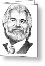 Kenny Rogers Greeting Card by Murphy Elliott