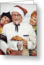 Kentucky Fried Chicken Ad Greeting Card by Granger
