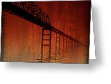 KEY BRIDGE ARTISTIC  IN BALTIMORE MARYLAND Greeting Card by Skip Willits