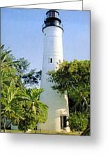 Key West Light Greeting Card by Frederic Kohli