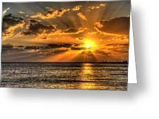 Key West Sunset Greeting Card by Shawn Everhart