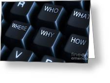 Keyboard With Question Labels Greeting Card by Blink Images