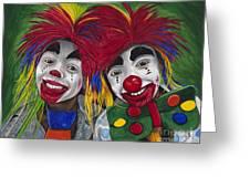Kid Clowns Greeting Card by Patty Vicknair