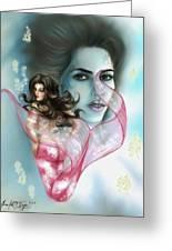 Kim The Mermaid Greeting Card by Scarlett Royal