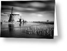 Kinderdijk Greeting Card by Dave Bowman