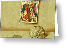 King and Seashell Greeting Card by Victor Sap