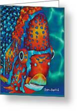 King Angelfish Greeting Card by Daniel Jean-Baptiste