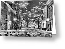 King Street In Black And White Greeting Card by JC Findley