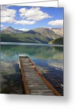 Kintla Lake Dock Greeting Card by Marty Koch