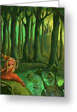 Kissing Frogs Greeting Card by Andy Catling