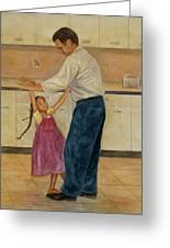 Kitchen Waltz Greeting Card by Robert Casilla