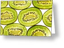 Kiwi Fruit II Greeting Card by Paul Ge