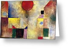 Klee: Red Balloon, 1922 Greeting Card by Granger