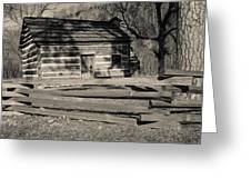 Knob Creek Cabin Greeting Card by Mark Bowmer