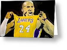 Kobe Bryant Greeting Card by Estelle BRETON-MAYA