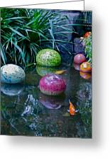 Koi Pond Fantasy Greeting Card by Richard Mansfield