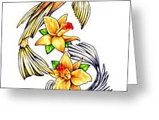 Koi Greeting Card by Sheryl Unwin