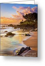 Koki Beach Sunrise Greeting Card by Inge Johnsson