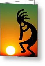 Kokopelli Greeting Card by Mitch Cat
