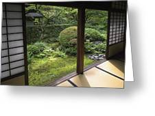 Koto-in Zen Temple Side Garden - Kyoto Japan Greeting Card by Daniel Hagerman