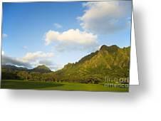 Kualoa Ranch Greeting Card by Dana Edmunds - Printscapes