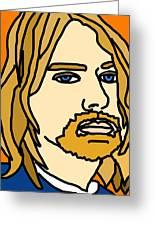 Kurt Kobain Greeting Card by Jera Sky