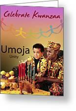 Kwanzaa Umoja Greeting Card by Shaboo Prints