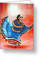 La Bailarina Del Sol Greeting Card by Heather Calderon