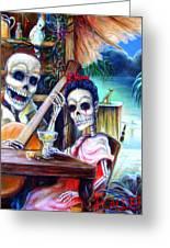 La Borracha Greeting Card by Heather Calderon
