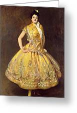 La Carmencita Greeting Card by John Singer Sargent