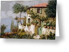 La Casa Giallo-verde Greeting Card by Guido Borelli