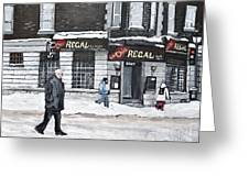 La Chic Regal Pointe St. Charles Greeting Card by Reb Frost
