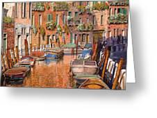 La Curva Sul Canale Greeting Card by Guido Borelli