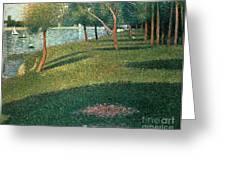 La Grande Jatte Greeting Card by Georges Pierre Seurat