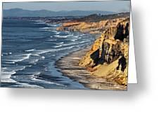 La Jolla Cliffs Over Blacks Greeting Card by Russ Harris