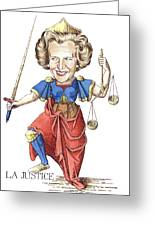La Justice Greeting Card by Debbie  Diamond