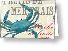 La Mer Shellfish 1 Greeting Card by Debbie DeWitt
