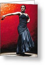 La Nobleza Del Flamenco Greeting Card by Richard Young