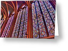 La Sainte-chapelle Greeting Card by Nigel Fletcher-Jones