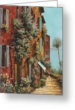 La Strada Verso Il Lago Greeting Card by Guido Borelli