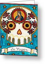 La Virgen Greeting Card by Maryann Luera