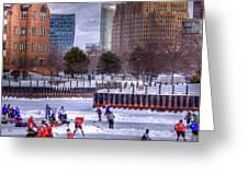 Labatt Pond Hockey 2011 Greeting Card by Don Nieman