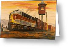 Lackawanna Fast Freight Greeting Card by Christopher Jenkins